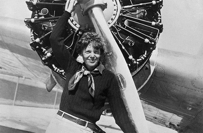 The Ninety-Nines First President, Amelia Earhart