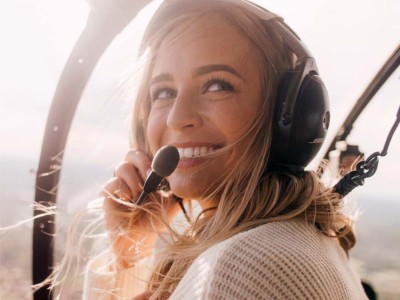 Woman Pilot with Headset